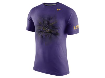 Nike College Gloves Tri-Blend (LSU) Men's T-Shirt