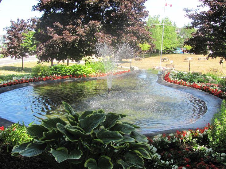 Gorgeous fountain in Rotary Park, Kincardine ON