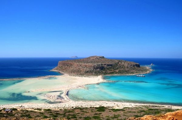 Famous beach in Crete: Balos