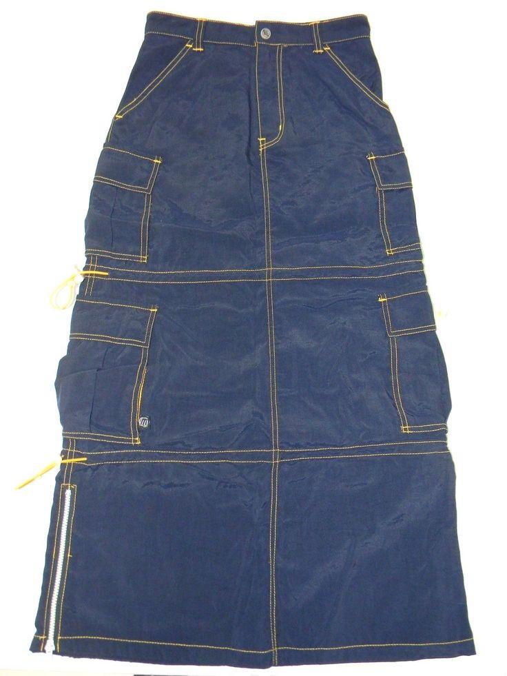 macgirl blue yellow cargo maxi skirt wardrobe