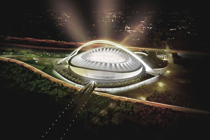The King Senzangakhona Stadium in Durban, KwaZulu-Natal, was built for the 2010 World Cup. I want to see this place.