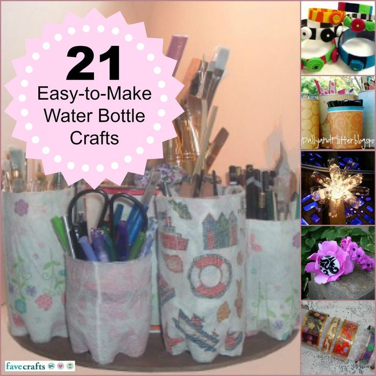 21 Water Bottle Craft tutorials--decorate, accessorize, and organize with water bottles!