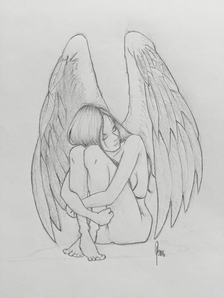 Drawing an angel