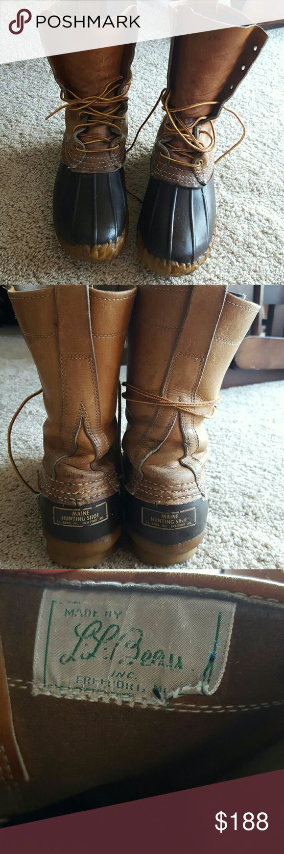 L.L.Bean boot Brown LL bean boots hunting style Women's size 7 Please see pics for condition Any questions please ask before purchase!! L.L. Bean Shoes Ankle Boots & Booties