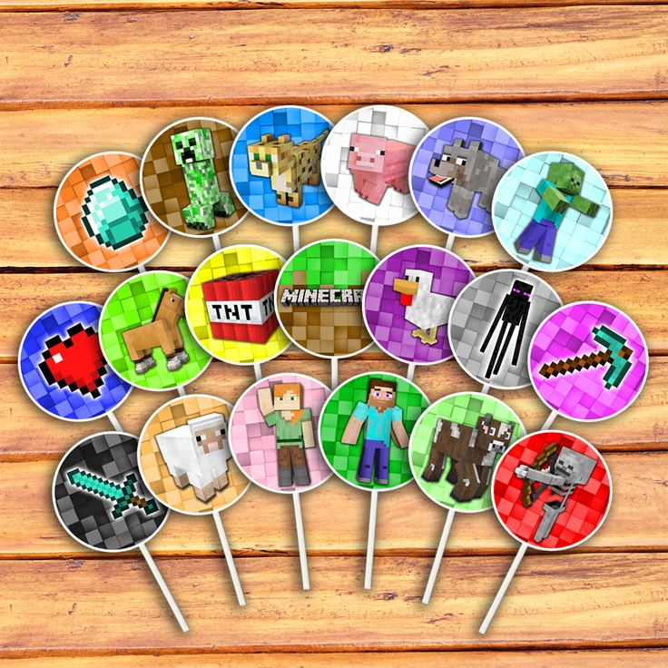 The 25 best Minecraft cupcake toppers ideas on Pinterest