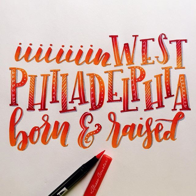 I couldn't resist jumping in on today's #hiphoplettering with @sandelindesigns and @hiphoplettering for Fresh Prince theme song day!❤️❤️❤️❤️ . . . . . #hiphoplettering #brushlettering #brushcalligraphy #moderncalligraphy #handlettering #calligrafriends #lettering #handwritten #brushpen #dailylettering #letteringchallenge #dailychallenge #artistsofinstagram #instaart #tombow #tombowusa edited with #acolorstory #alissecourter #freshprinceofbelair #willsmith #freshprince #inwestphiladelphiab...