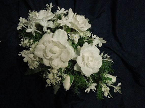 Teardrop Bridal Bouquet made with Lily of the by FantasyWedding