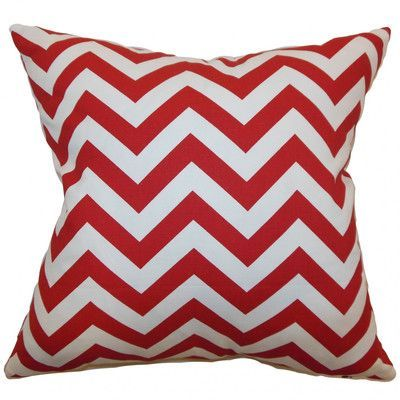 The Pillow Collection Xayabury Zigzag Throw Pillow Cover Color: Lipstick White