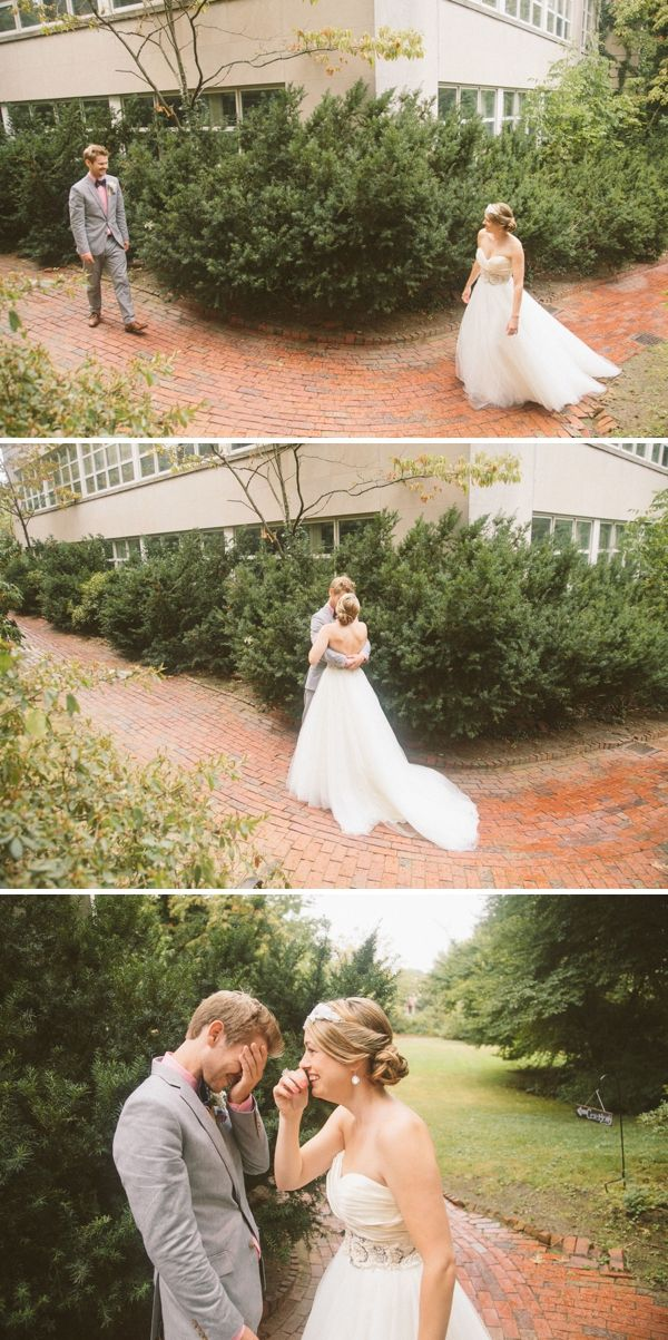 I don't think he should see the bride before the wedding,  but this is too cute