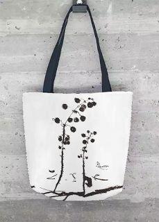 minimal custom made tote bag from original drawing