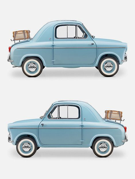 "The Vespa 400 was a rear-engined micro car, produced by ACMA (Ateliers de construction de motocycles et d'automobiles) in Fourchambault, France, from 1957 to 1961 to the designs of the Italian Piaggio company. Two different versions were sold, ""Lusso"" and ""Turismo""."