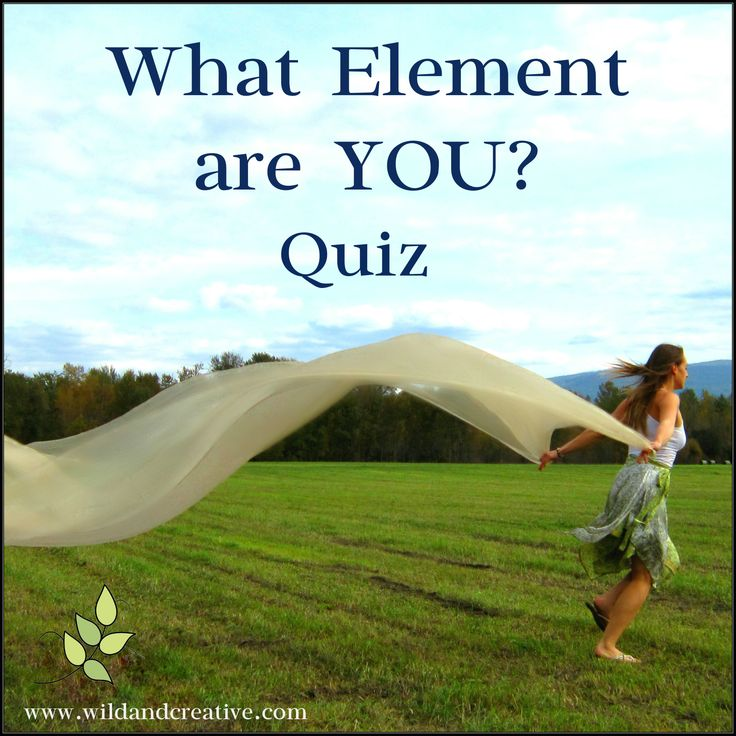 What element are you? -Personality Quiz Click to take the free quiz! www.wildandcreative.com #personalityquiz #free