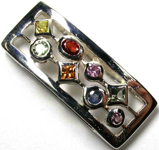 BEAUTIFUL  PARTY SAPPHIRES  925 SILVER PENDANT  GTJA391  NATURAL PARTY SAPPHIRE,GEMSTONES  NECKLACE AT GEMROCKAUCTIONS