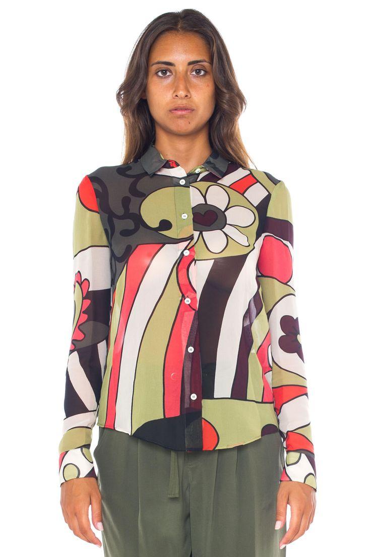 Fantasy silk blouse - Euro 410 | Red Valentino | Scaglione Shopping Online