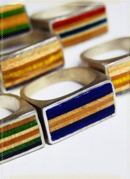 Recycled skate board ring