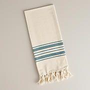 Teal Villa Stripe Kitchen Tea Towel