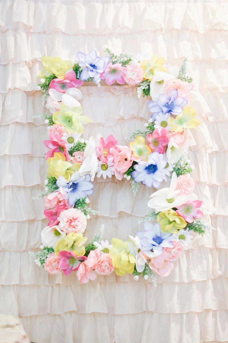 3 ideas para decorar letras con flores all lovely party - Letras infantiles para decorar ...