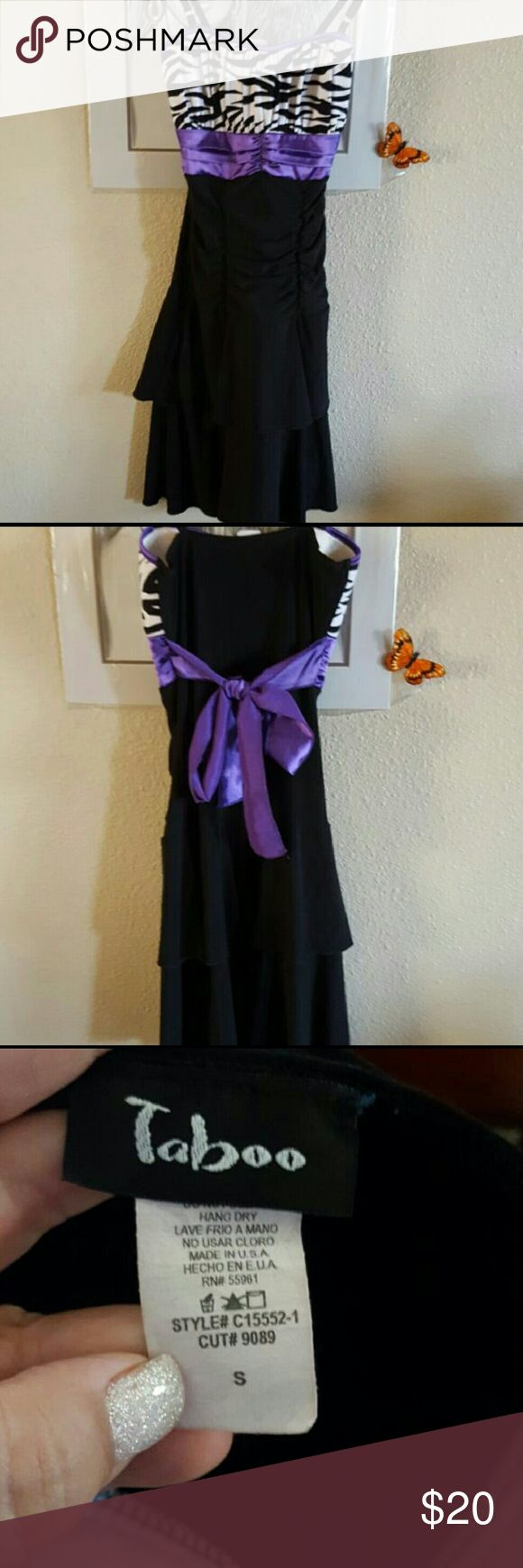 Fun Spaghetti strap dress size small Super fun dress. Can either dress it up or down . Size small. Worn 1 time. Taboo Dresses
