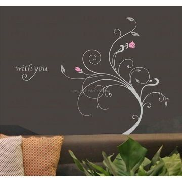 With You Flower Wall Decals