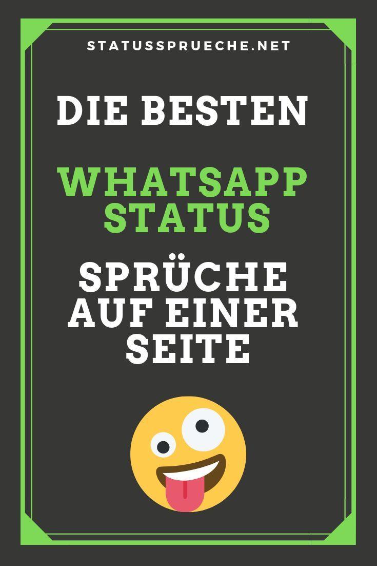 Die Besten Whatsapp Status Sprüche Auf Einer Seite In Vielen