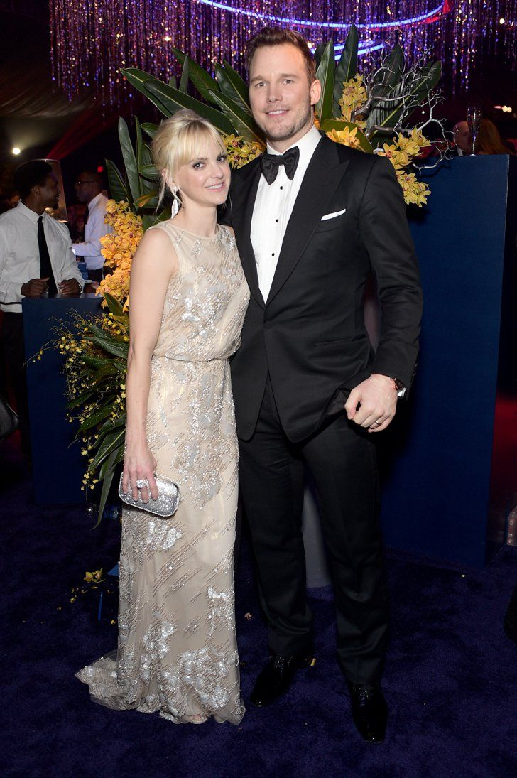 Pin for Later: Sexy Stars Flock to InStyle's Globes Bash Anna Faris and Chris Pratt