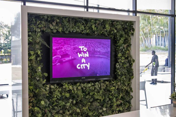#FocusProductionsPtyLtd custom hire TV + green wall display for #LifeChurch