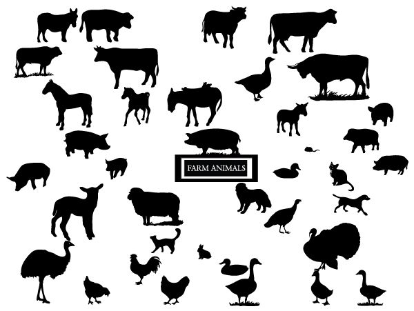 Best 81 Silhouettes Farm Animal Silhouettes Ideas On