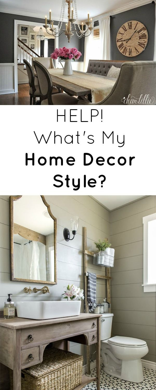 What's My Home Decor Style - Rustic Refined Home Decor Style (Images via Dear Lillie & Jenna Sue Design Co.)