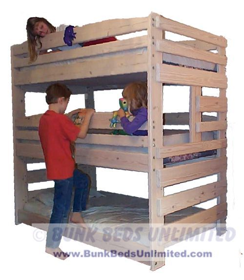 Triple Bunk bed- this is how my hubby get's to use his new chopsaw!!!