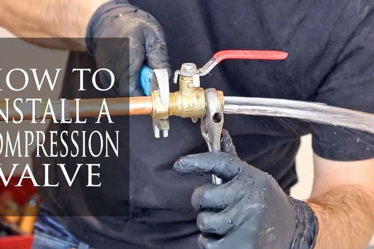 How to install a compression fitting proper way