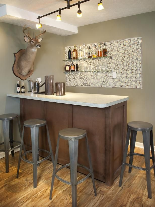 Home Bar Design Ideas For Basements, Bonus Rooms Or Theaters : Kitchen  Remodeling : HGTV