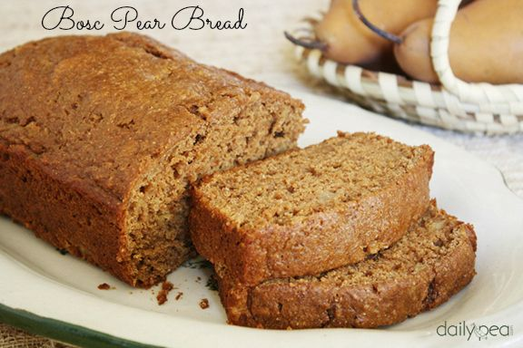 You wouldn't know it while eating this sweet bread, but it doesn't contain any refined sugar. My family couldn't get enough of it, so I'll definitely make it whenever we have Bosc pears in the house.