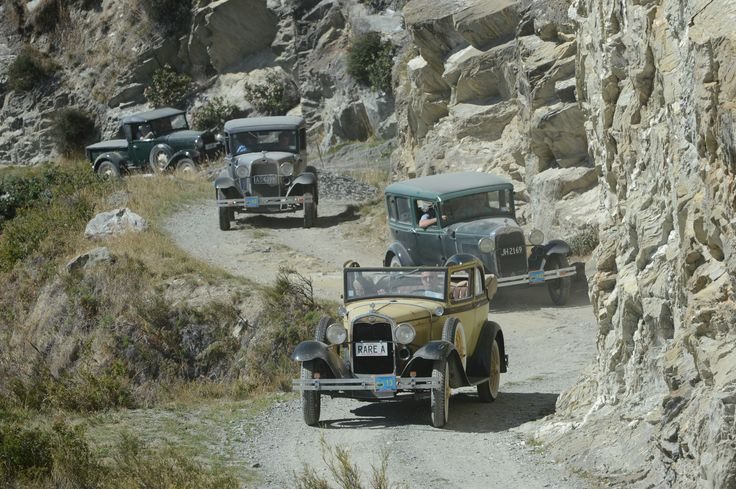 Model A cars wend their way along the eastern side of Lake Hawea yesterday, heading for the Dingleburn.  http://www.odt.co.nz/news/dunedin/337971/dingleburn-or-bust-and-no-one-did