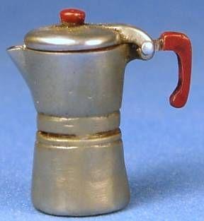 Espresso coffee maker - $40.00 : S P MINIATURES - hand crafted dollhouse scale miniatures, S P MINIATURES - shop online for dollhouse scale miniatures