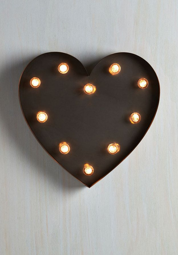 A warmly glowing heart to hang on your wall.