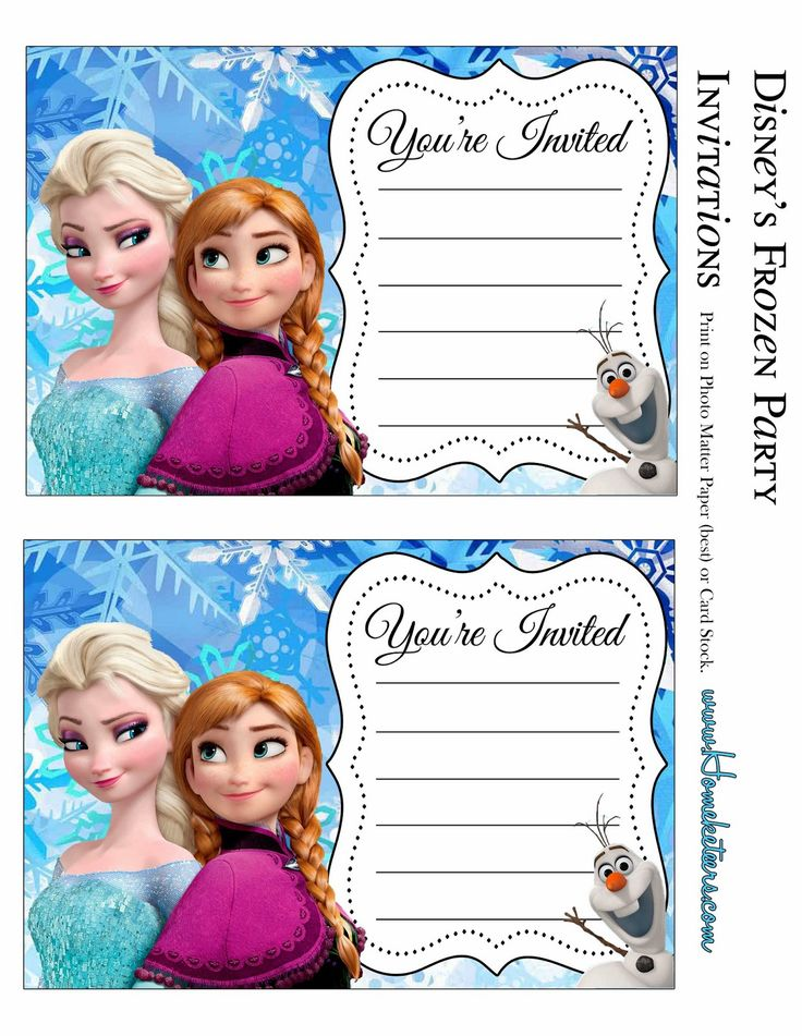 101 best Party Ideas - Disneyu0027s Frozen Invites images on Pinterest - birthday invitation card template free download