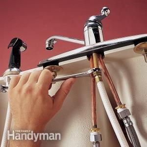 Replace A Sink Sprayer And Hose Faucet Repair Faucet Leaky Faucet