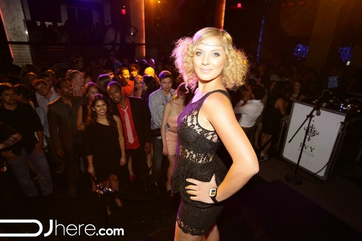 Tease Boutique Fashion Show at Ivy Nightclub. All lace outfit.