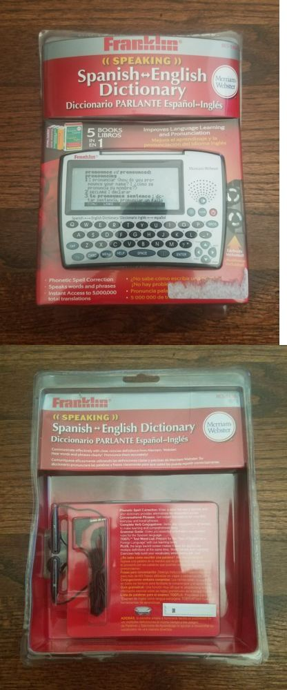 Dictionaries and Translators: Franklin Bes-1850 Merriam-Webster Speaking Spanish To English Dictionary - New -> BUY IT NOW ONLY: $125 on eBay!