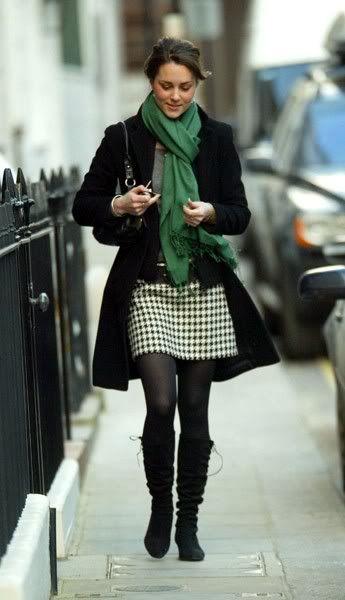 Kate Middleton, Duchess of Cambridge (Perfect for winter! Love the skirt,)