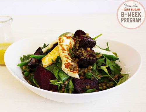 IQS 8-Week Program - Halloumi, Lentil and Beet Salad