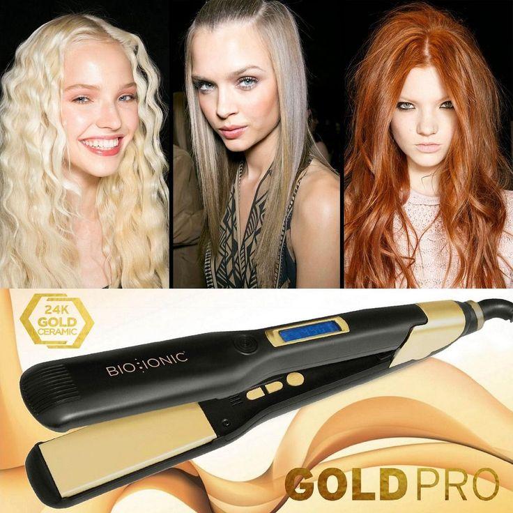 Il nuovo concetto di cura dei capelli ha un nome, è la piastra GoldPro di Bio Ionic! Perché unisce tutti gli effetti idratanti e anticrespo degli altri strumenti Bio Ionic agli effetti della foglia d'oro a 24 carati. Il risultato, anche dopo la prima passata, sono capelli più luminosi e condizionati, privi di effetto crespo e con la giusta dose di idratazione. Pretendete il massimo per i vostri capelli e non rinunciate mai alla piastra GoldPro!