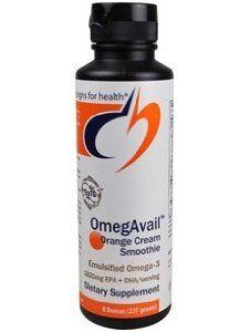 OmegAvail-Orange-Cream-Smoothie-16-oz-454-Grams-by-Designs-for-Health by Designs for Health. $52.00. OCM16Z. OmegAvail Orange Creme Smoothie 16oz. UPC - 879452003064. Product Contains: EPA (Eicosapentaenoic Acid) 1100 mg, DHA (Docosahexaenoic Acid) 720 mg, Other Omega-3 Fatty Acids 230 mg Other Ingredients: Molecularly distilled fish oil, water, xylitol, glycerine, gum arabic, natural flavors, citric acid, xanthan gum, guar gum, beta carotene (for color), potassium sorbat...