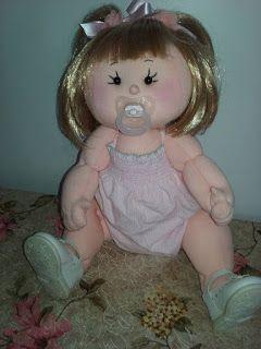 Bonecas de Pano com moldes: Bebê de pano articulado
