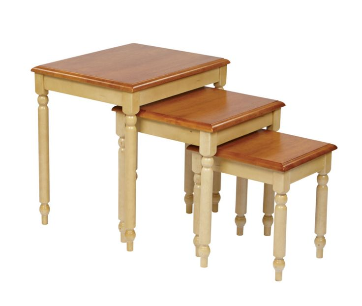 Country Cottage White Cherry 3pc. Nesting Tables OSP CC19