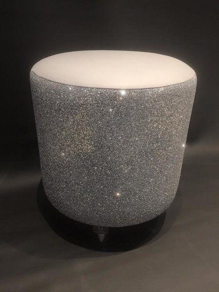 Glitter Furniture stunning Silver Glitter drum stool | The Glitter Furniture Company®