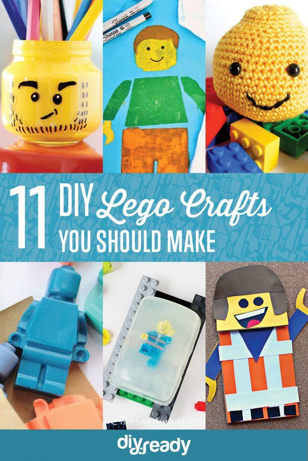 11 DIY Lego Crafts You Should Make | Cute And Creative Crafts by DIY Ready at http://diyready.com/11-fun-diy-lego-crafts-to-make/