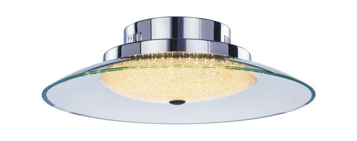 Home Lighting, Quartz semi-flush IP44, Crushed crystals. Illuminati Lighting.