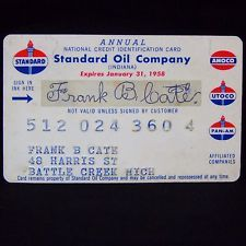 Standard Oil Company Credit Card Expired 1958 Pan Am Utoco Amoco Esso Chevron  in Collectibles, Credit, Charge Cards | eBay