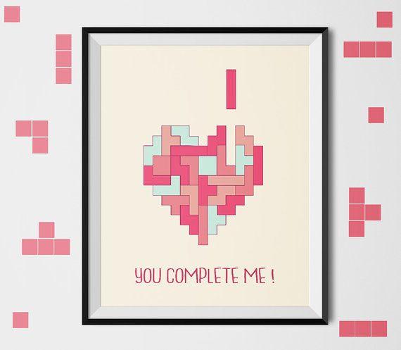 You complete me   printable art love print heart by shooshles #i_love_you #love #valentine #romance #lovers #valentine_card #happyvalentinesday #card #heart #quote #valentinesday #stvalentin #red #gift #idea #giftidea #forher #forhim #artwork #boho #illustration #artist #14feb #etsy #etshop #loveinintheair #valentines #doodle #doodleart #youcompleteme #gaming